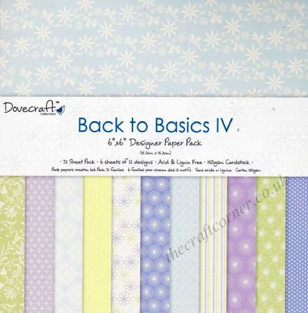 "Back To Basics IV 6"" x 6"" Designer Paper Pack by Dovecraft"